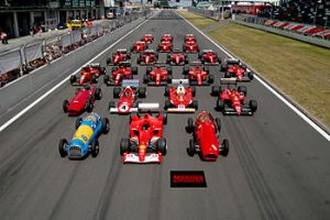 350px Ferrari Formula 1 lineup at the Nürburgring 300x200 - Race auto's
